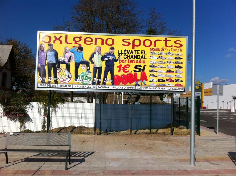 Valla publicitaria – Carteleria oxígeno sport
