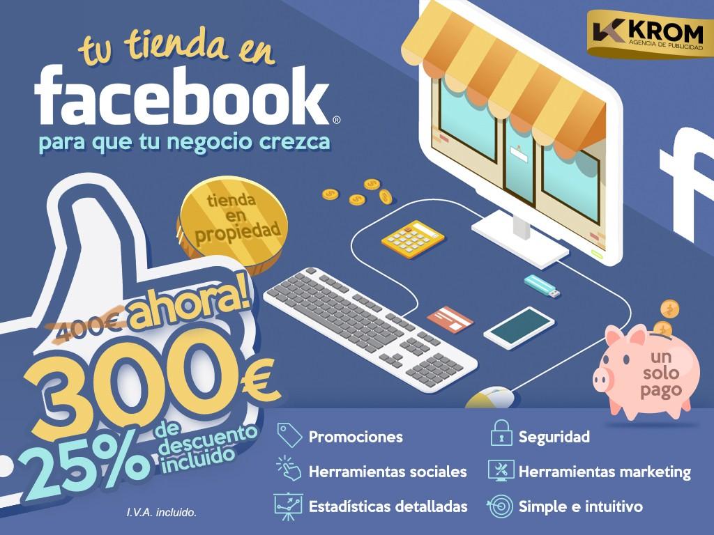tienda online facebook - krom agency