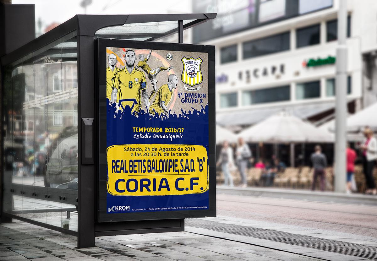 Cartelería para el Coria C.F.