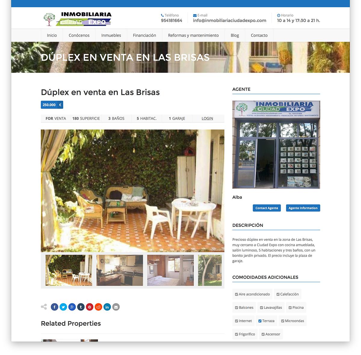 Web para Inmobiliaria Ciudad Expo