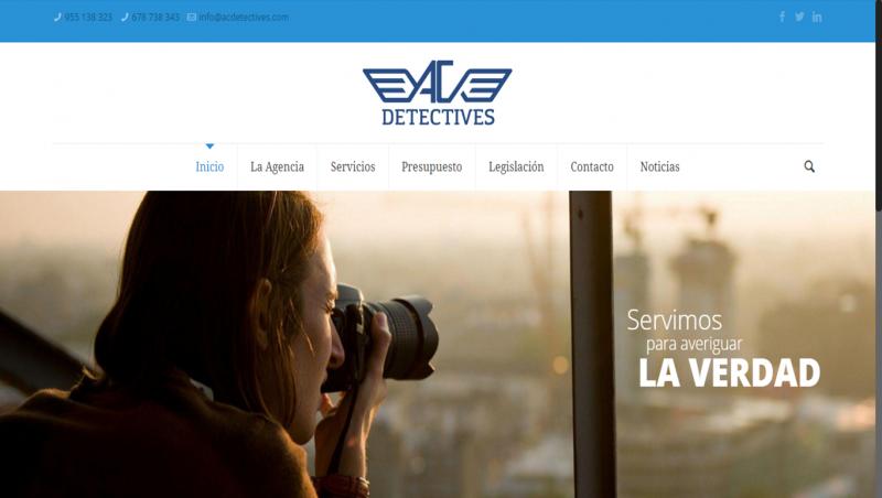Nueva web para AC Detectives