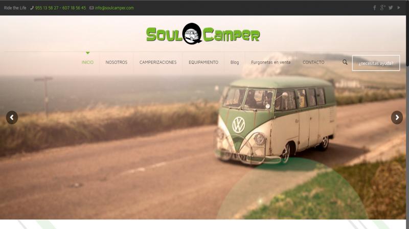 Nueva web para SoulCamper