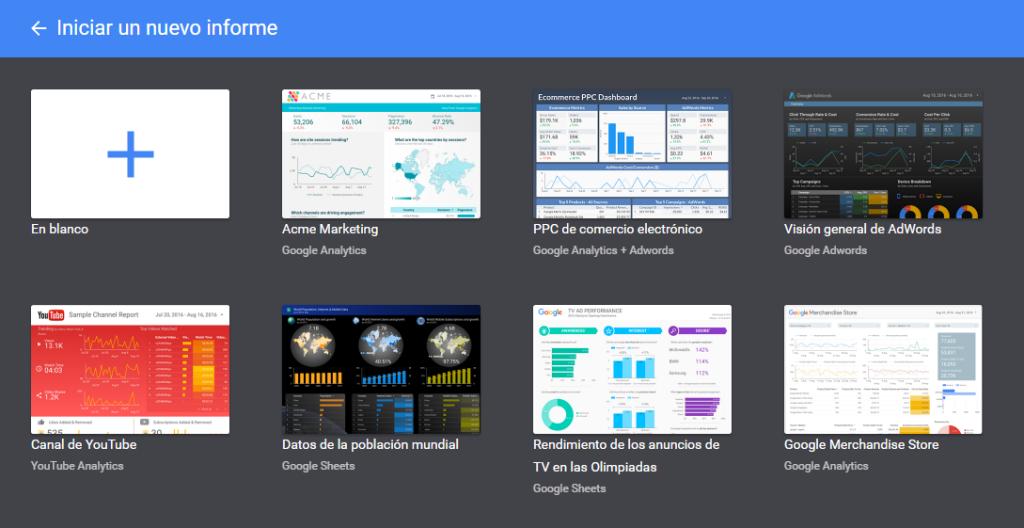 Plantillas de Informes Google Data Studio