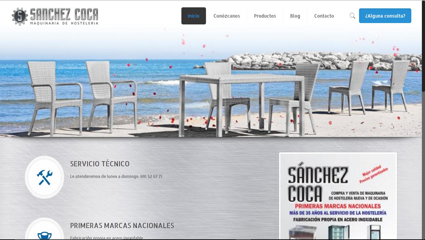Diseño web Maquinaria Hostelería Sanchez Coca
