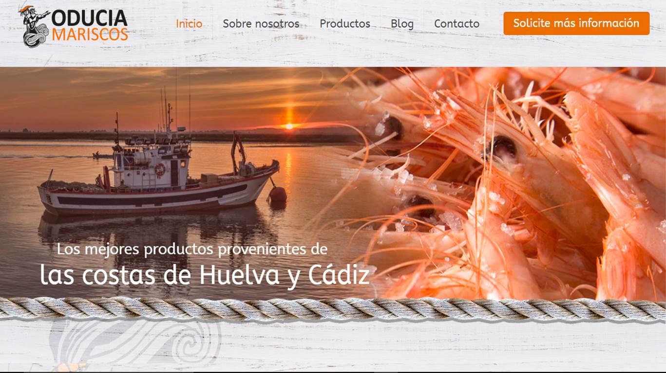 Nueva diseño web para Mariscos Oducia