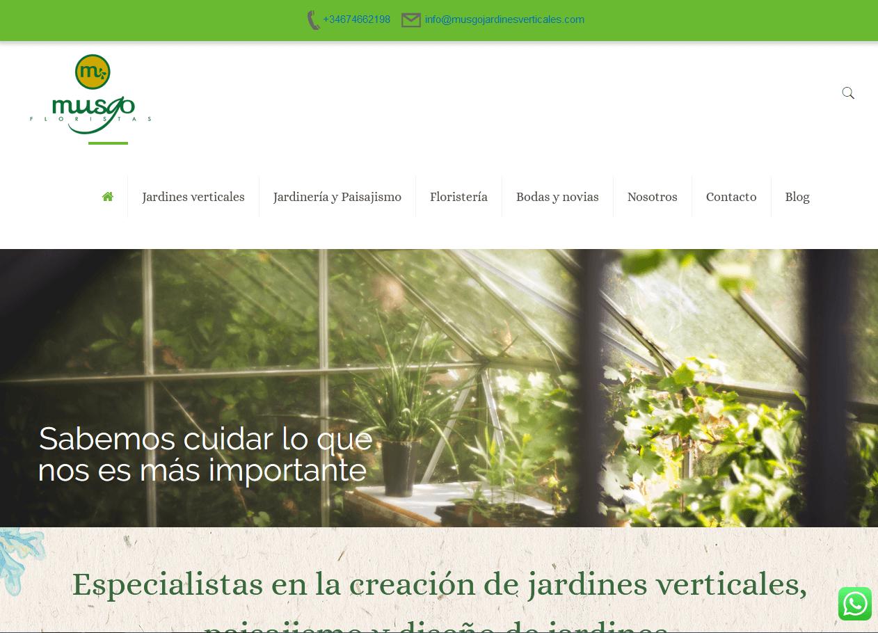 Web para Musgo Floristas