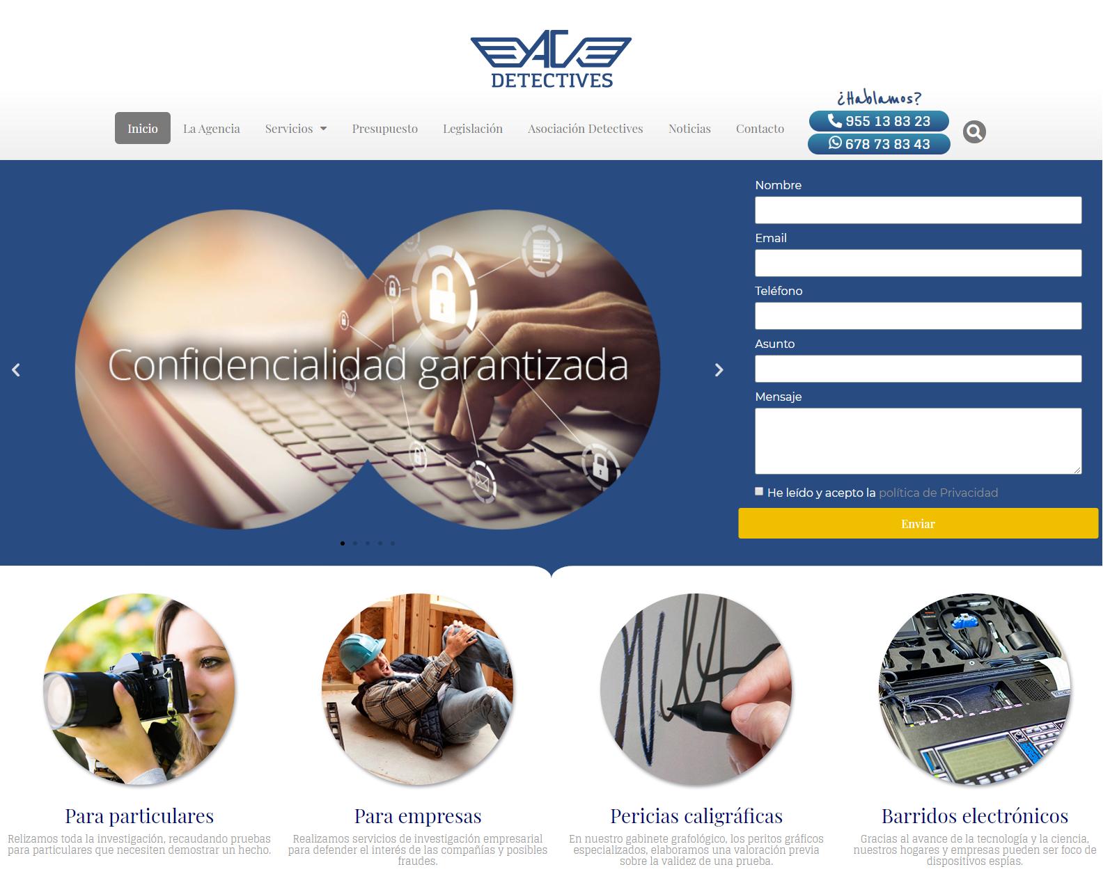 Nueva web para Acdetectives
